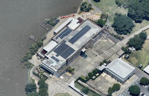 Brisbane Powerhouse aerial imagery