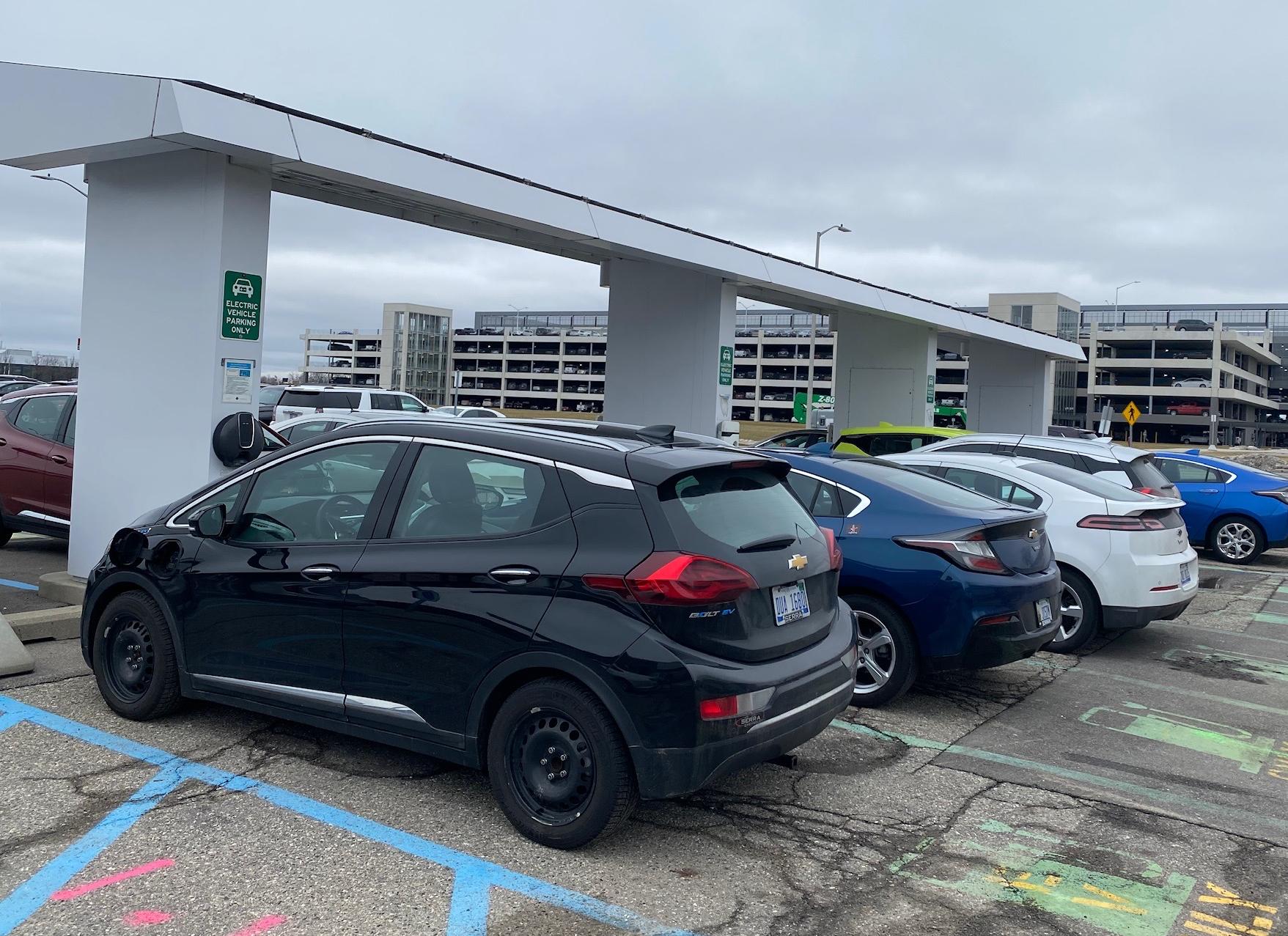 Warren Tech Center - employee EV charging