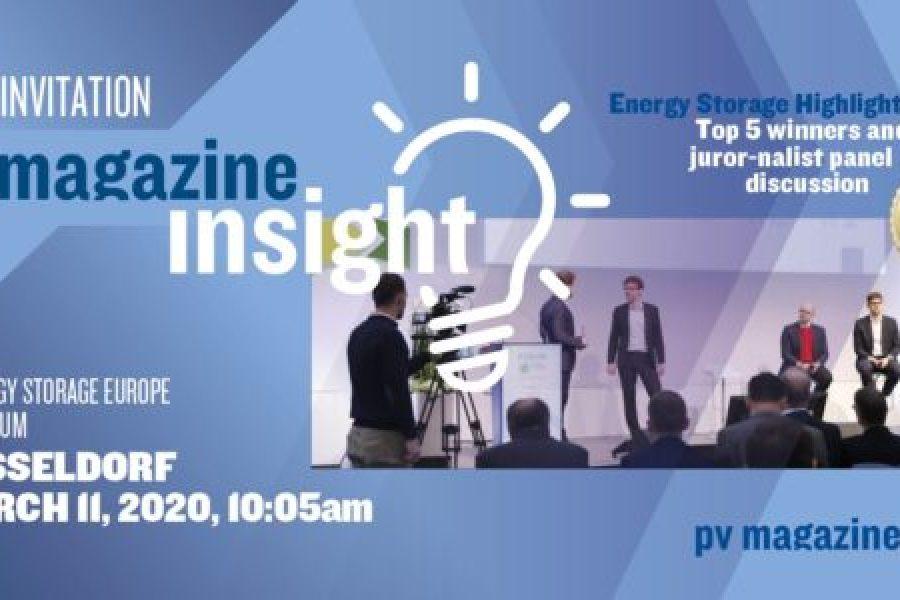 Storage Highlights 2020 – Megawatt Winner: Lumenion