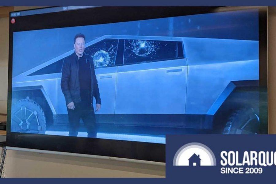 Tesla's Beaut Cybertruck Ute: Body As Tough As Steel, Windows As Weak As Glass.