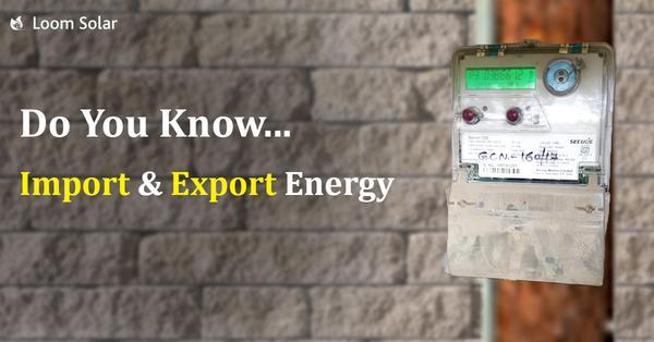 net meter import and export