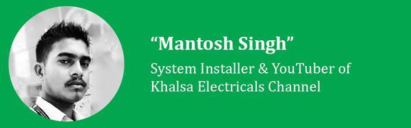 mantosh singh of khalsa electricals