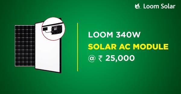 loom solar 340 w solar ac module