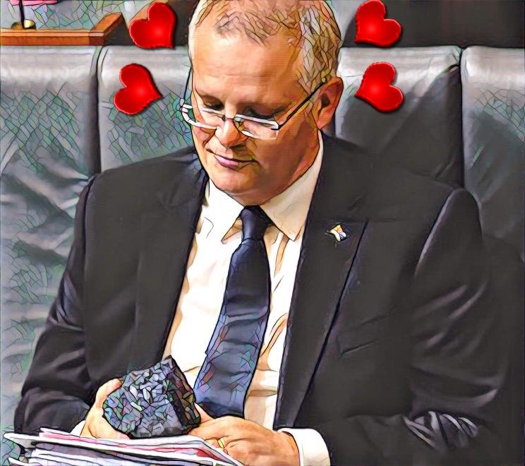 PM Scott Morrison's lump of coal