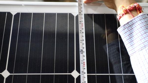 loom solar panel size