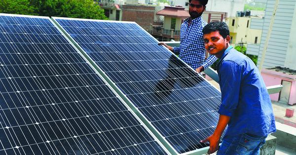 solar ac module installation in palam vihar gurgaon