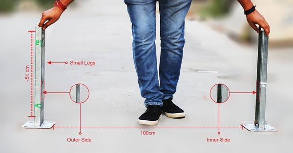 Positioning small legs