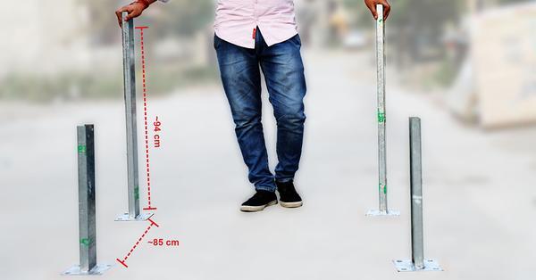 positioning Large legs