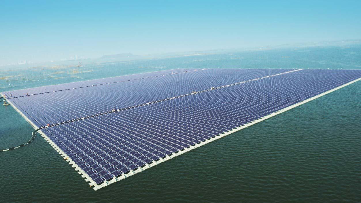 Floatovoltaic Solar Power Plant