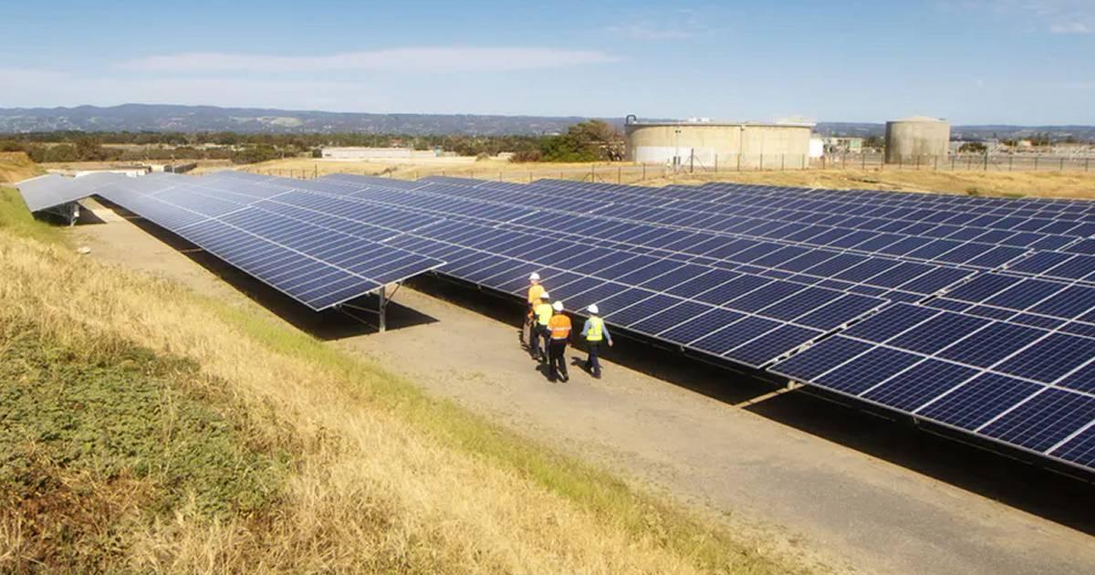 SA Water - solar energy