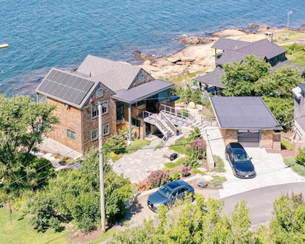 Solar-powered house design in Gloucester, MA