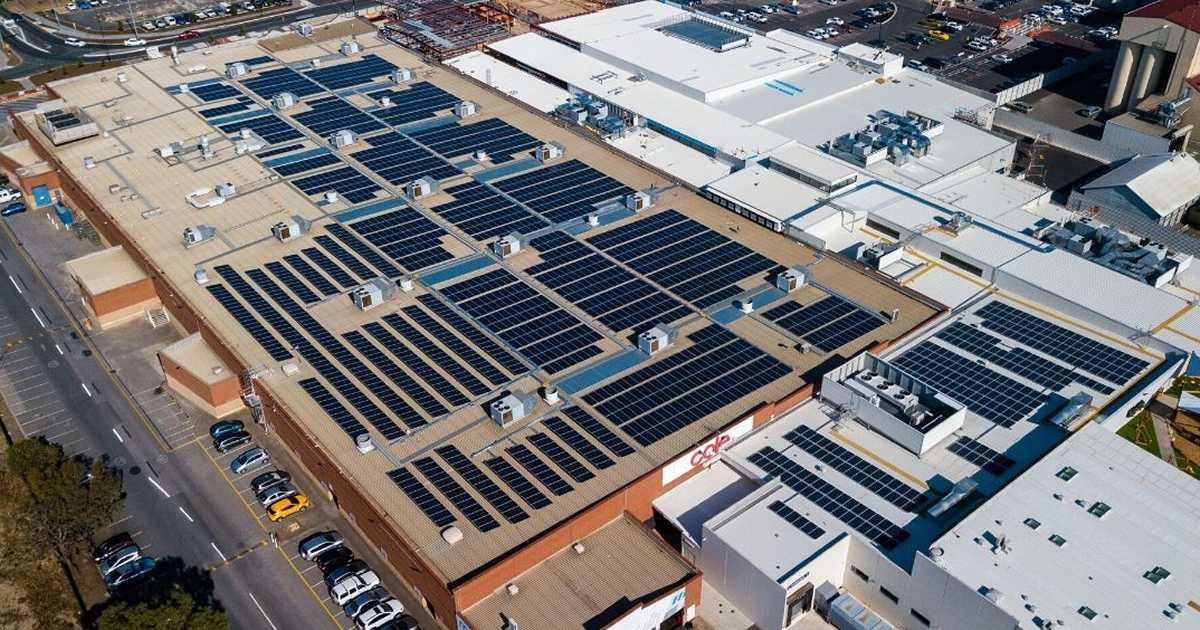Port Adelaide Plaza solar installation