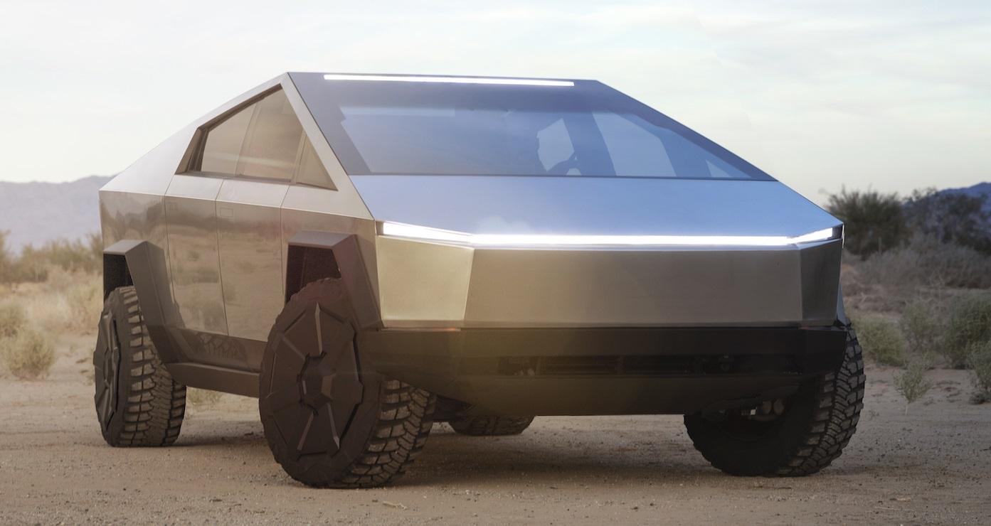 Tesla Cybertruck electric ute exterior