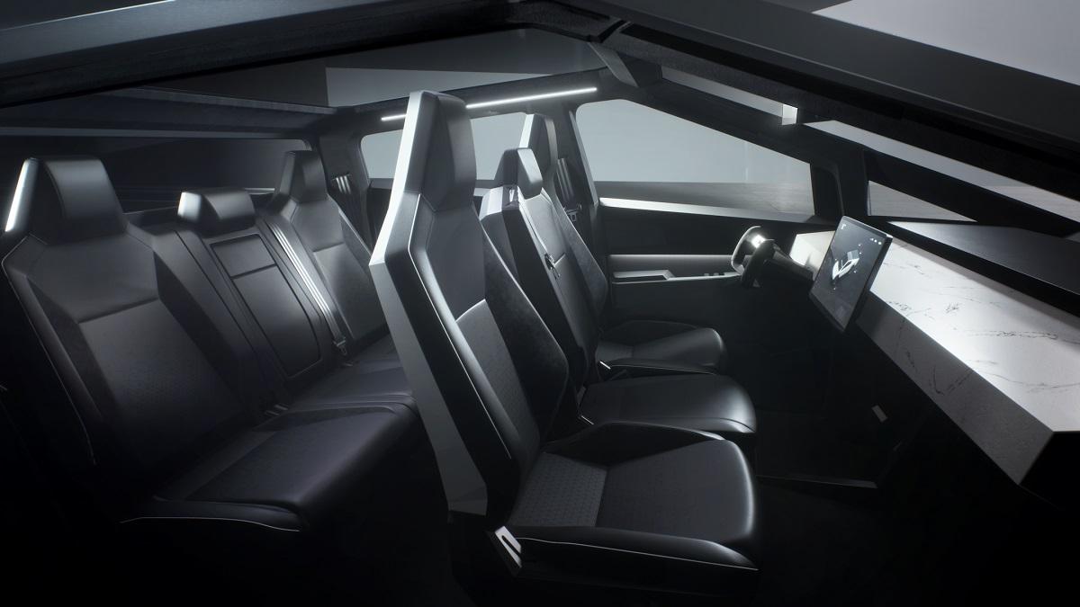 Tesla Cybertruck electric pickup interior