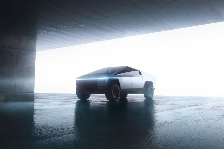 Tesla Cybertruck electric pickup photo