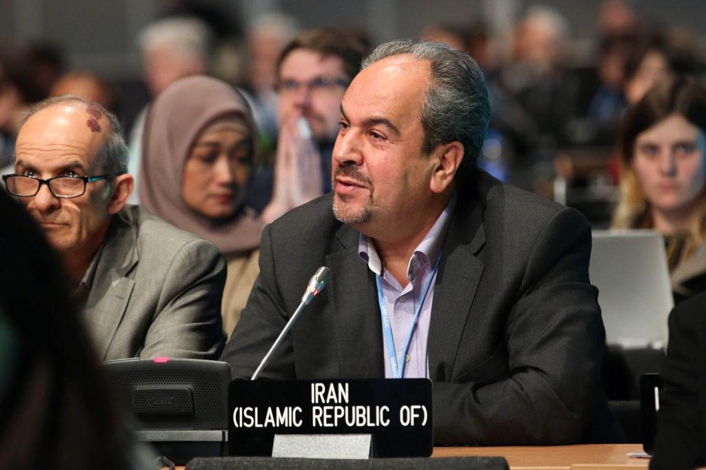 Majid Shafiepour, Iran delegate at COP24, 7 Dec 2018. Credit: Kiara Worth/IISD.