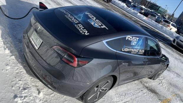 Fast EV Lightning Run