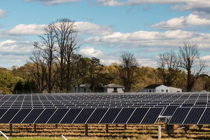 Solar energy field in Virginia