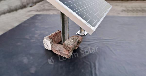 civil work of solar panel